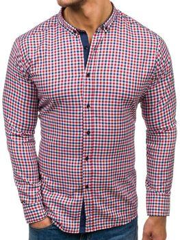 Рубашка мужская RED POLO 2145 красно-темно-синяя