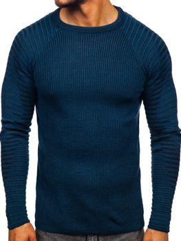 Свитер мужской синий Bolf 0002