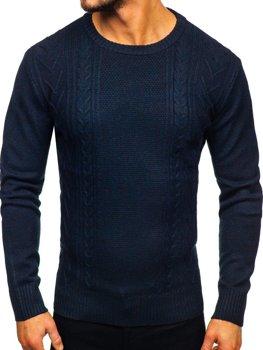 Свитер мужской темно-синий Bolf H1937