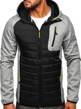 Серая мужская демисезонная куртка Bolf KS2150