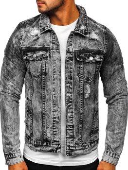 Серая мужская джинсовая куртка Bolf AK588