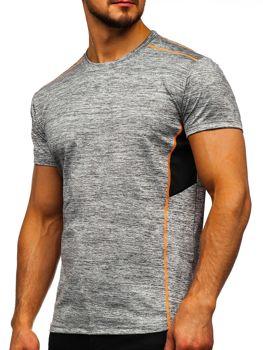 Серая мужская тренировочная футболка без принта Bolf KS2102