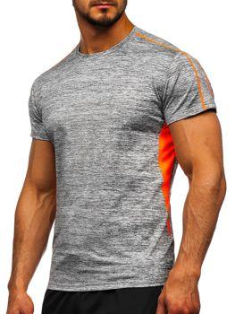 Серая мужская тренировочная футболка Bolf KS2100