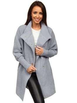 Серое женское пальто Bolf 7118-1