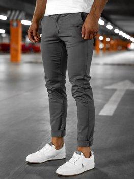 Серые мужские брюки чиносы Bolf 1146