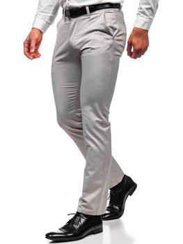 Серые мужские брюки чинос Bolf KA1786P