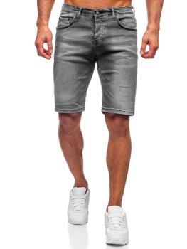 Серые мужские джинсовые шорты Bolf 3032