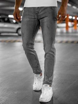 Серые мужские джинсы skinny fit Bolf KX129