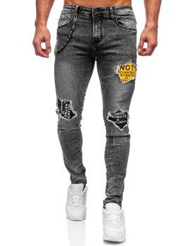 Серые мужские джинсы slim fit Bolf 61003S0