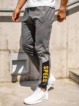 Серые мужские спортивные брюки джоггеры Bolf HY717