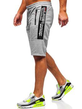 Серые мужские спортивные шорты Bolf JX337