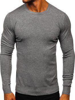 Серый мужской свитер Bolf YY01
