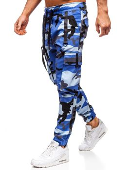Синие мужские брюки карго-джоггеры Bolf 11105