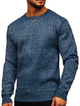 Синий утепленный мужской свитер Bolf 7M117