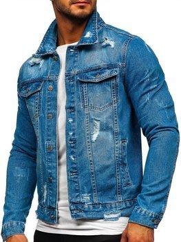Синяя мужская джинсовая куртка Bolf AK588