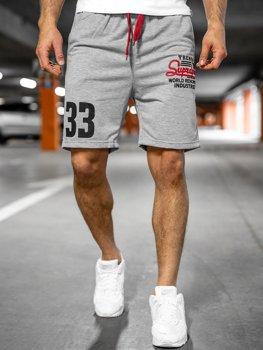 Спортивные мужские шорты серые Bolf EX06