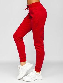 Темно-бордовые спортивные брюки женские Bolf CK-01