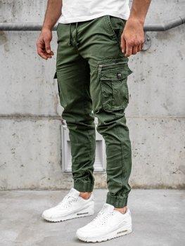 Темно-зеленые мужские брюки джоггеры карго Bolf CT6702S0