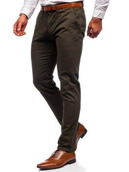 Темно-зеленые мужские брюки чинос Bolf 1143