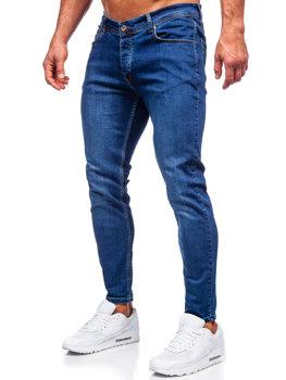Темно-синие мужские джинсовые брюки slim fit Bolf R921