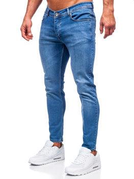 Темно-синие мужские джинсовые брюки slim fit Bolf R922