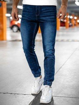 Темно-синие мужские джинсовые джоггеры Bolf NJ55002