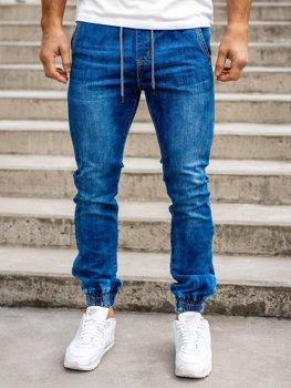 Темно-синие мужские джинсы джоггеры Bolf KA1538