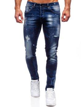 Темно-синие мужские джинсы regular fit Bolf 9257