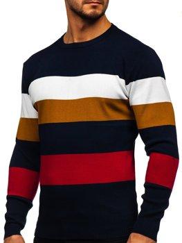 Темно-синий мужской свитер Bolf H2005