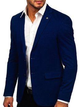 Темно-синий элегантный мужской пиджак Bolf C191060