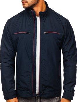 Темно-синяя демисезонная мужская элегантная куртка Bolf 6362