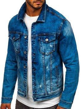 Темно-синяя джинсовая мужская куртка Bolf XSF78271