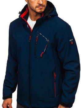 Темно-синяя мужская куртка Софтшелл Bolf BK124