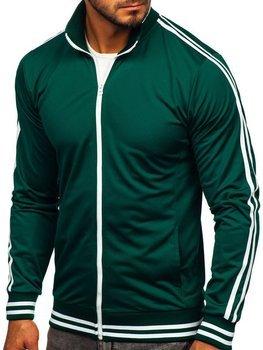 Толстовка мужская без капюшона ретро стиль зеленая Bolf 11113