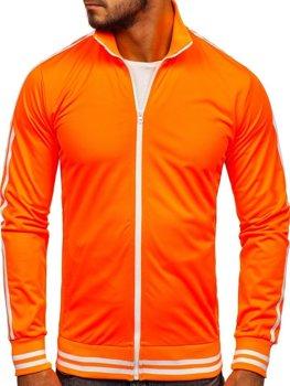 Толстовка мужская без капюшона ретро стиль оранжевая Bolf 11113