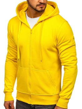 Толстовка мужская с капюшоном желтая Bolf 2008