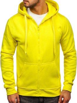 Толстовка мужская с капюшоном светло-желтая Bolf 2008