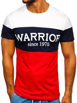 Футболки мужские с рисунком красная Bolf 100693