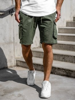 Хаки мужские шорты-карго Bolf 5011