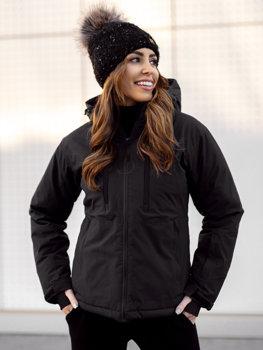 Черная зимняя женская лыжная куртка Bolf HH012