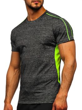 Черная мужская тренировочная футболка Bolf KS2100
