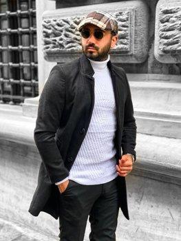 Черное мужское зимнее пальто Bolf 0010