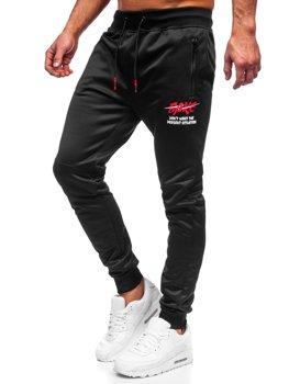 Черно-красные мужские спортивные брюки Bolf K50005