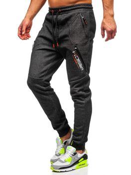 Черно-оранжевые мужские спортивные брюки Bolf Q1041