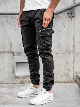 Черные мужские брюки джоггеры карго Bolf CT6702S0