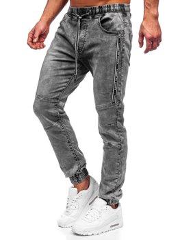 Черные мужские джинсовые джоггеры Bolf TF052