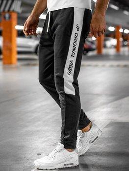 Черные мужские спортивные брюки Bolf N1216