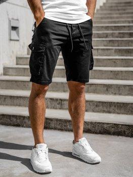 Черные мужские шорты-карго Bolf 5011