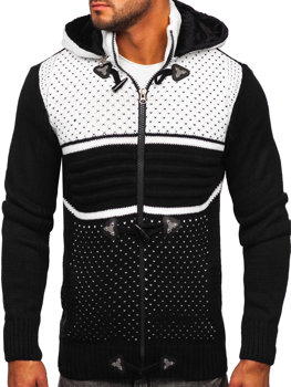 Черный мужской свитер толстой вязки Bolf 2047