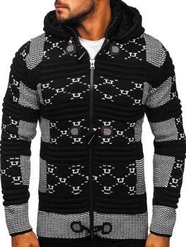 Черный мужской свитер толстой вязки Bolf 2059
